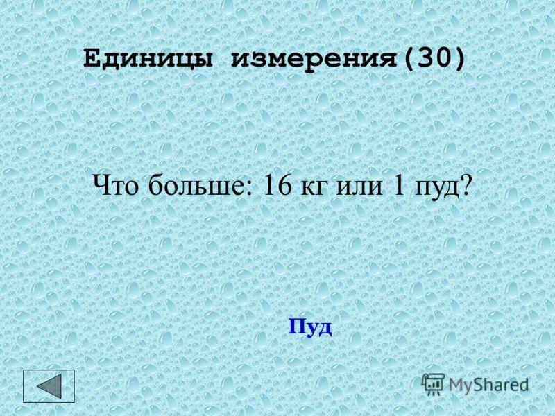Единицы измерения(20) Количество воды в 1 кг. Дм 3 или литр