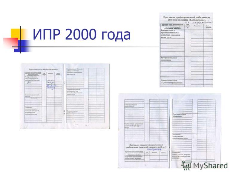 ИПР 2000 года
