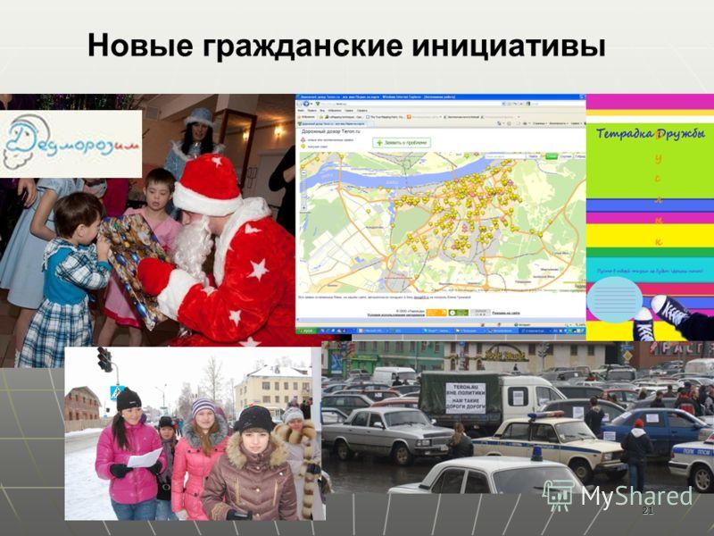 21 Новые гражданские инициативы