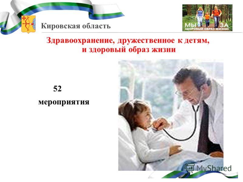 Кировская область Здравоохранение, дружественное к детям, и здоровый образ жизни 52 мероприятия