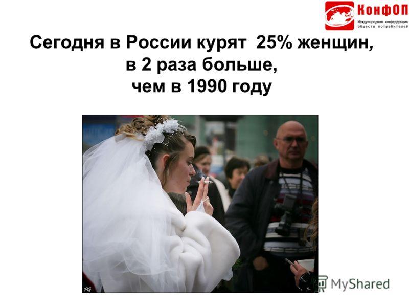 Сегодня в России курят 25% женщин, в 2 раза больше, чем в 1990 году