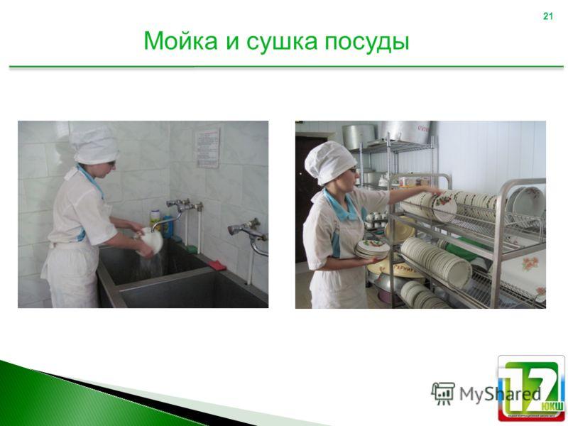 21 Мойка и сушка посуды