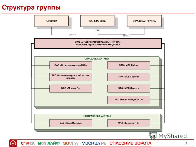 3 Структура группы