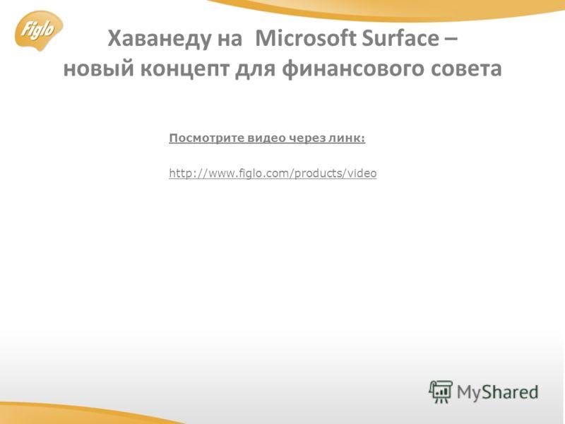 Хаванеду на Microsoft Surface – новый концепт для финансового совета http://www.figlo.com/products/video Посмотрите видео через линк: