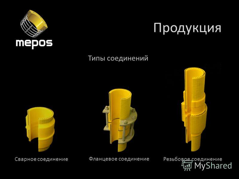 Продукция Типы соединений Сварное соединение Фланцевое соединение Резьбовое соединение