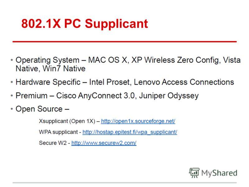 802.1X PC Supplicant