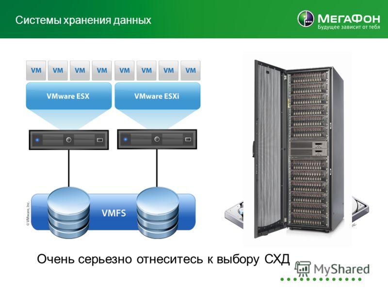Системы хранения данных Очень серьезно отнеситесь к выбору СХД