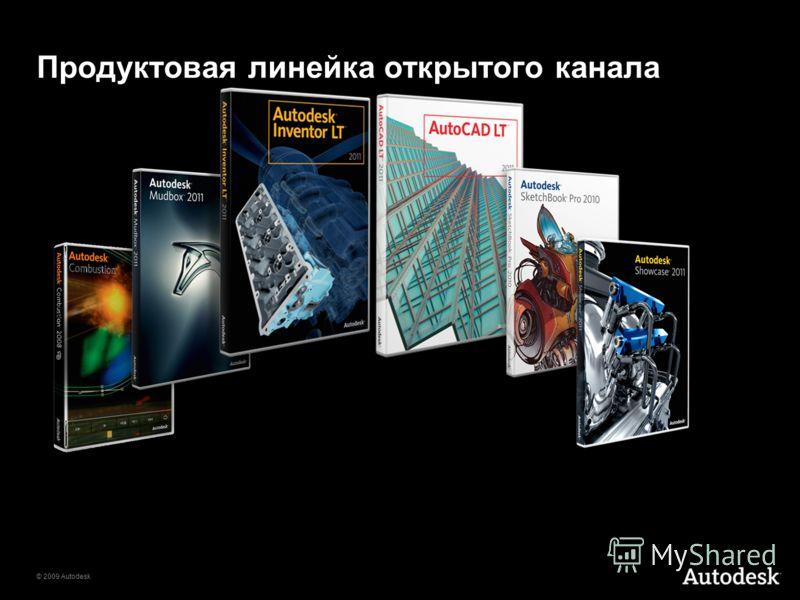 © 2009 Autodesk Продуктовая линейка открытого канала