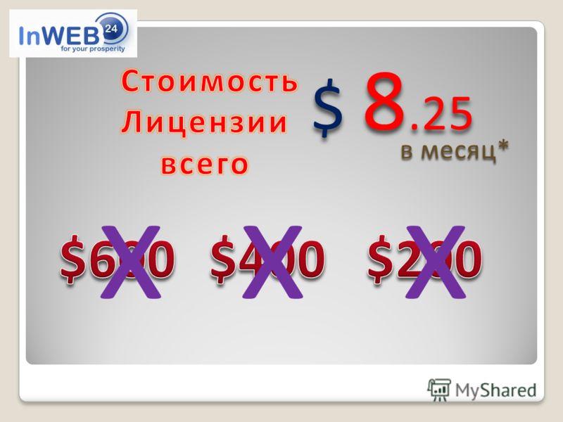 xxx $ 8.25 в месяц*