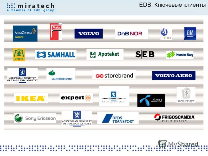 EDB. Ключевые клиенты