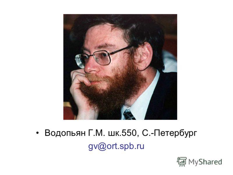 Водопьян Г.М. шк.550, С.-Петербург gv@ort.spb.ru