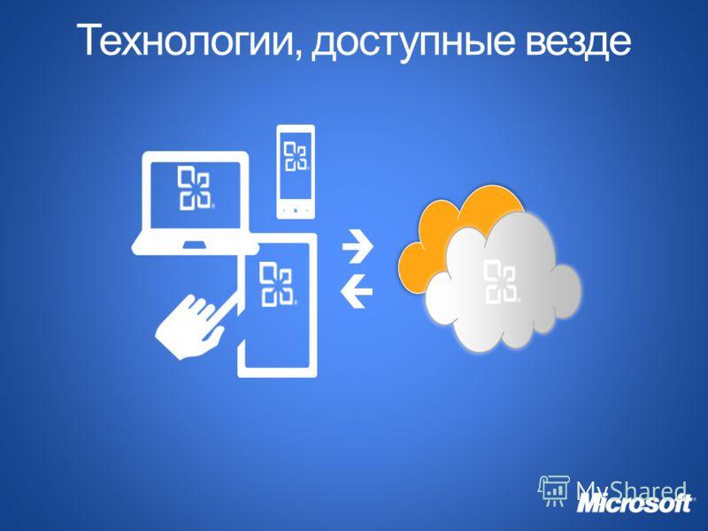 Технологии, доступные везде