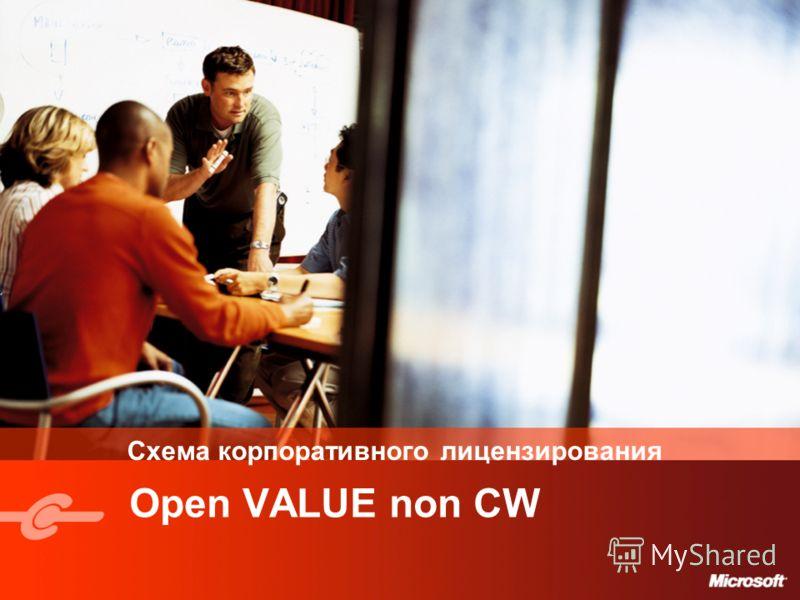 Схема корпоративного лицензирования Open VALUE non CW