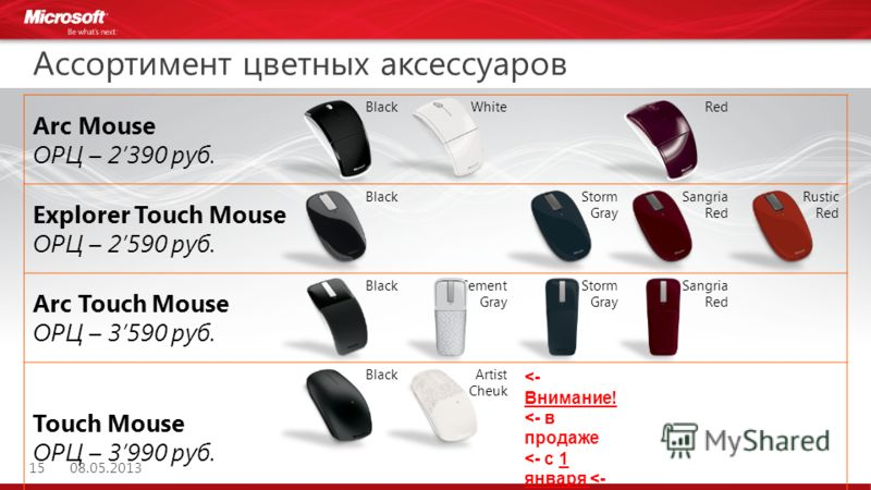 Arc Mouse ОРЦ – 2390 руб. BlackWhiteRed Explorer Touch Mouse ОРЦ – 2590 руб. BlackStorm Gray Sangria Red Rustic Red Arc Touch Mouse ОРЦ – 3590 руб. BlackCement Gray Storm Gray Sangria Red Touch Mouse ОРЦ – 3990 руб. BlackArtist Cheuk