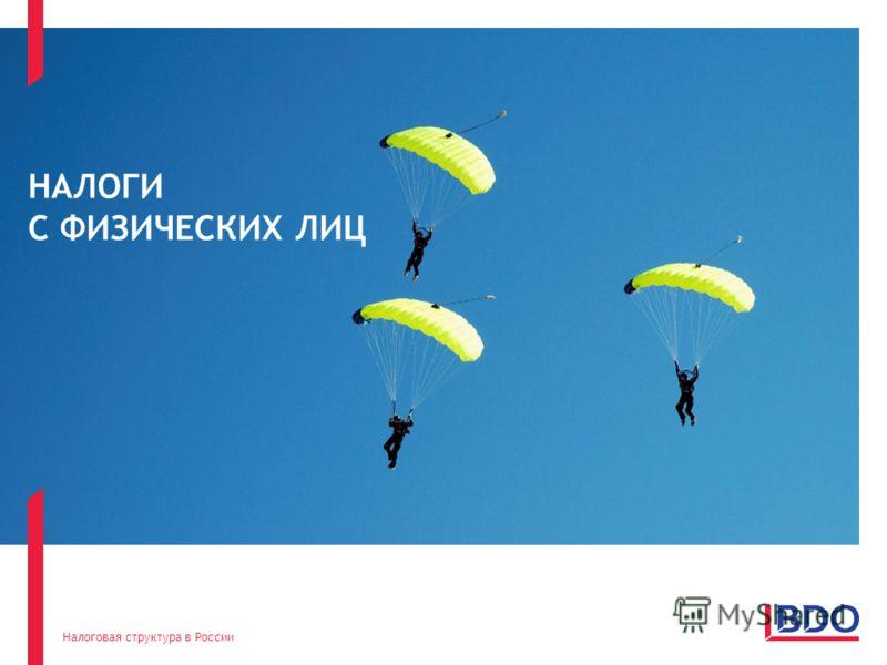 Налоговая структура в России 11 НАЛОГИ С ФИЗИЧЕСКИХ ЛИЦ