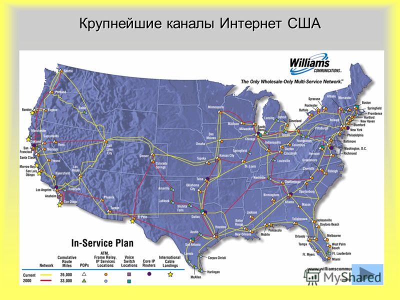 22 Крупнейшие каналы Интернет США