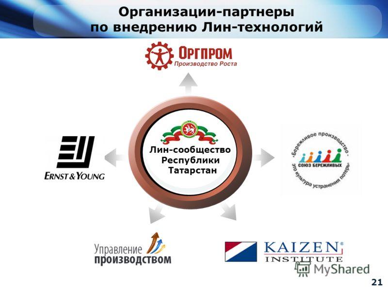 21 Лин-сообщество Республики Татарстан Организации-партнеры по внедрению Лин-технологий