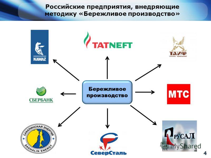 Российские предприятия, внедряющие методику «Бережливое производство» 4