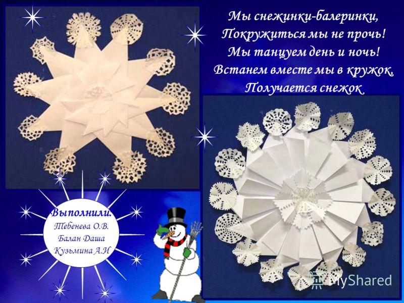 Выполнили: Тебенева О.В. Балан Даша Кузьмина А.И