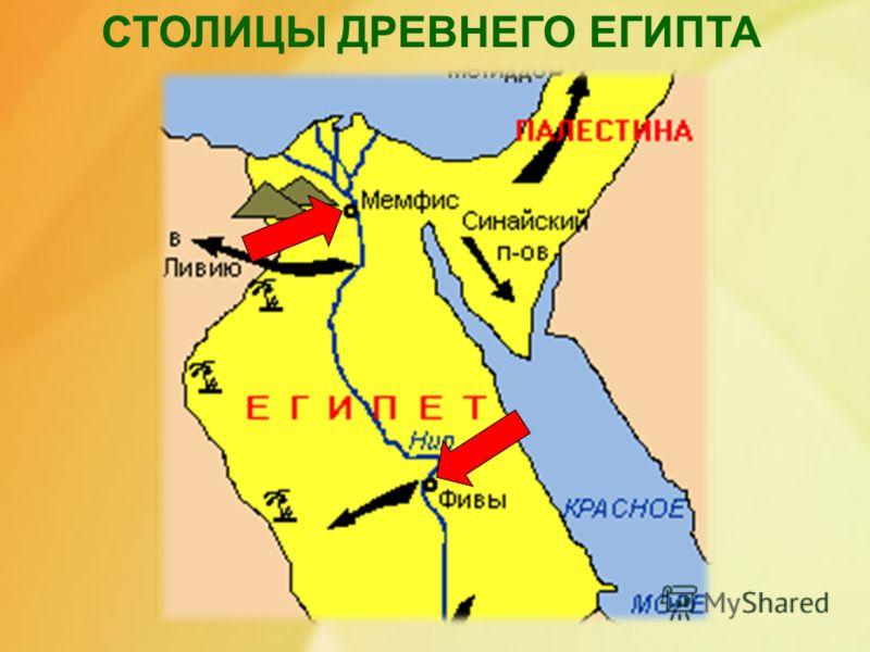 СТОЛИЦЫ ДРЕВНЕГО ЕГИПТА Столицы древнего египта.