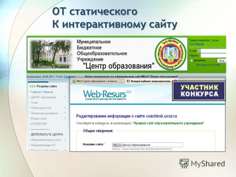 ОТ статического К интерактивному сайту