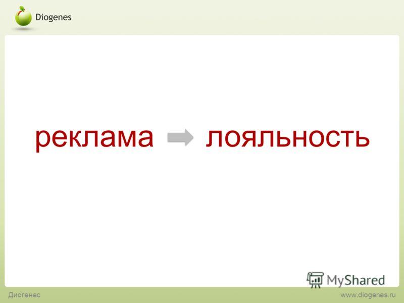 реклама лояльность Диогенес www.diogenes.ru