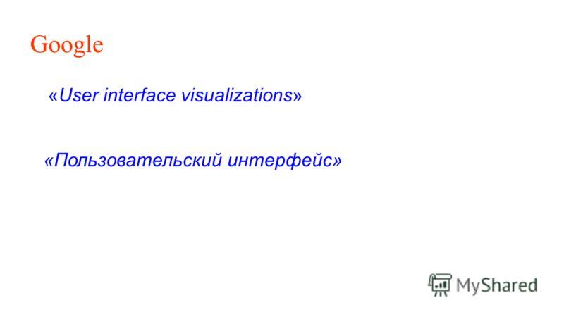 Google «User interface visualizations» «Пользовательский интерфейс»