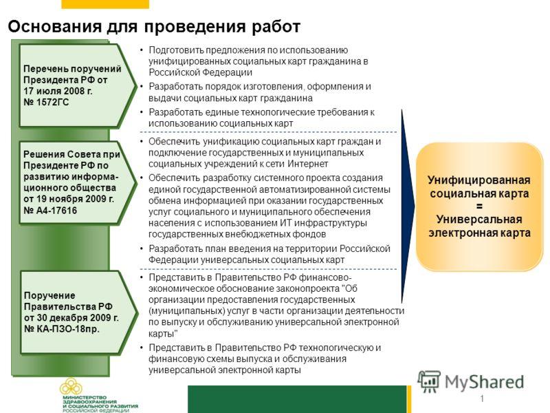 РОССИЯ 2010 О создании единой государственной информационной системы учета, планирования и контроля оказываемых гражданам Российской Федерации социальных услуг, а также организации оформления, изготовления, выдачи и использования универсальной социал