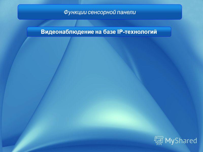 Функции сенсорной панели Видеонаблюдение на базе IP-технологий