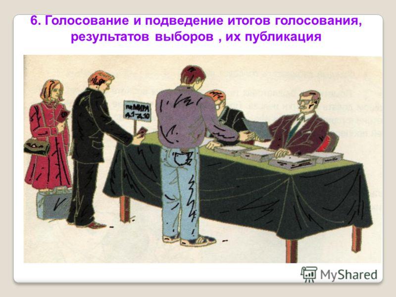 6. Голосование и подведение итогов голосования, результатов выборов, их публикация