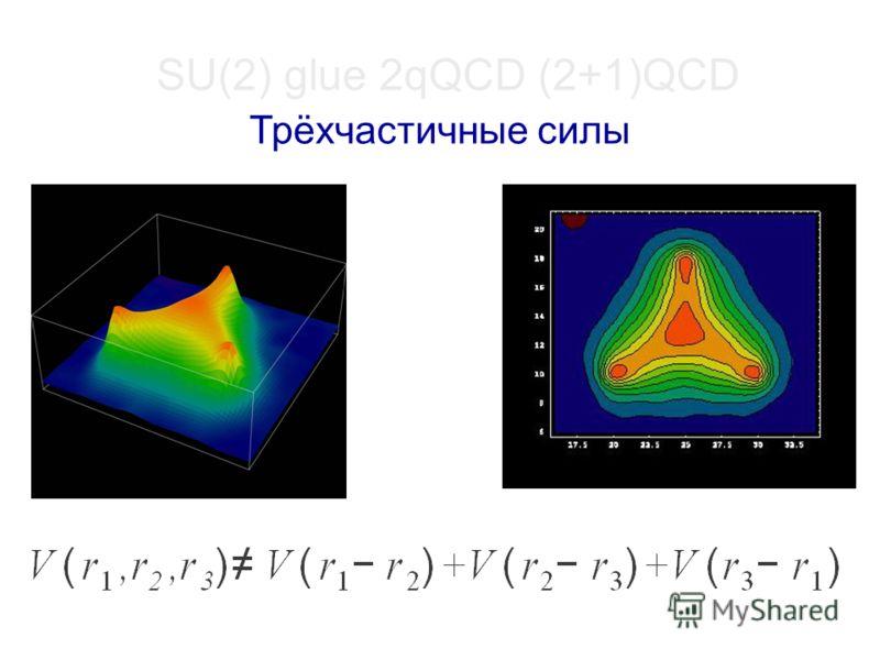 SU(2) glue 2qQCD (2+1)QCD Трёхчастичные силы