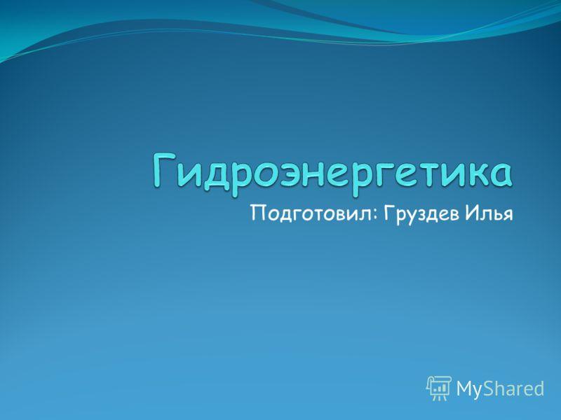 Подготовил: Груздев Илья