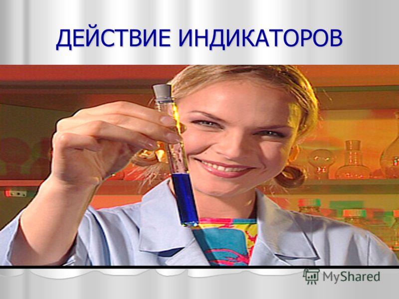 ДЕЙСТВИЕ ИНДИКАТОРОВ