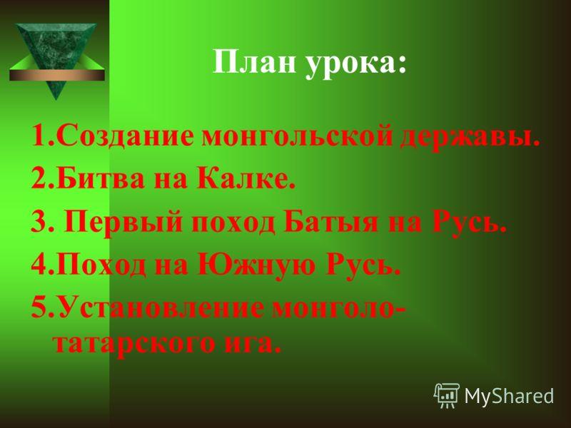 Тема урока: Монголо-татарское нашествие на Русь.