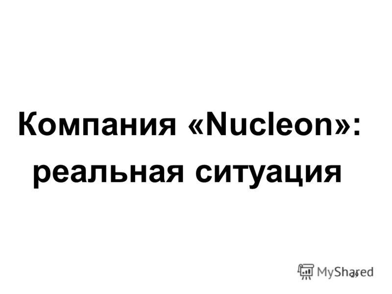 29 Компания «Nucleon»: реальная ситуация