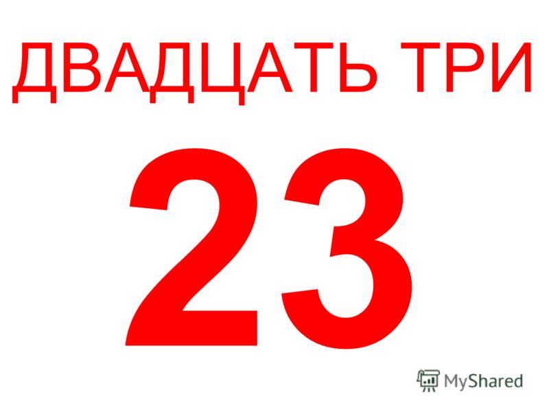ДВАДЦАТЬ ТРИ 23