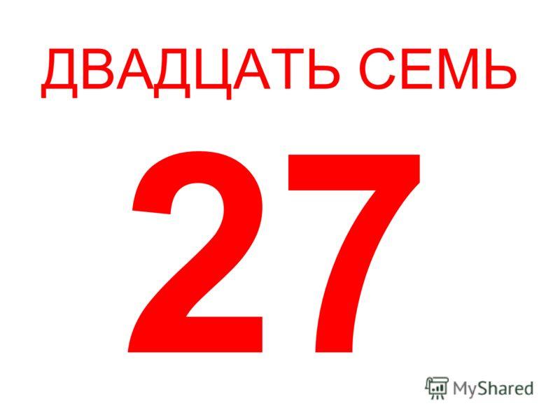 ДВАДЦАТЬ СЕМЬ 27