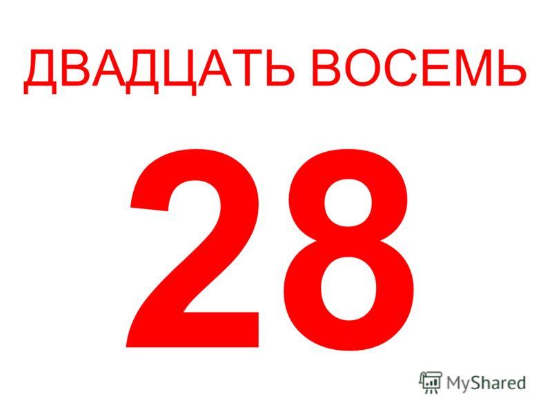 ДВАДЦАТЬ ВОСЕМЬ 28