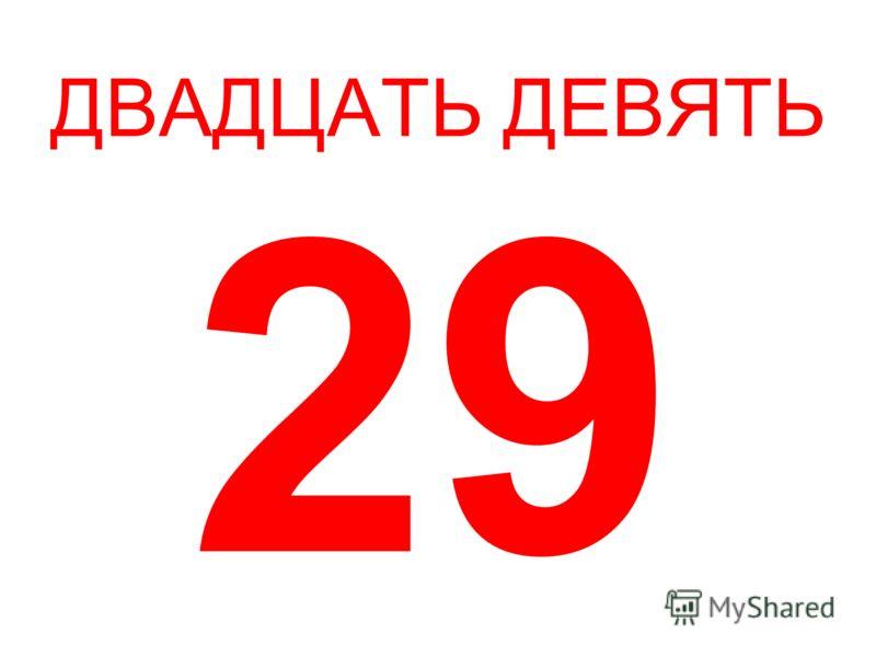 ДВАДЦАТЬ ДЕВЯТЬ 29