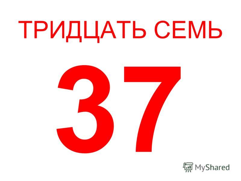 ТРИДЦАТЬ СЕМЬ 37