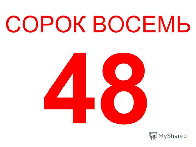 СОРОК ВОСЕМЬ 48