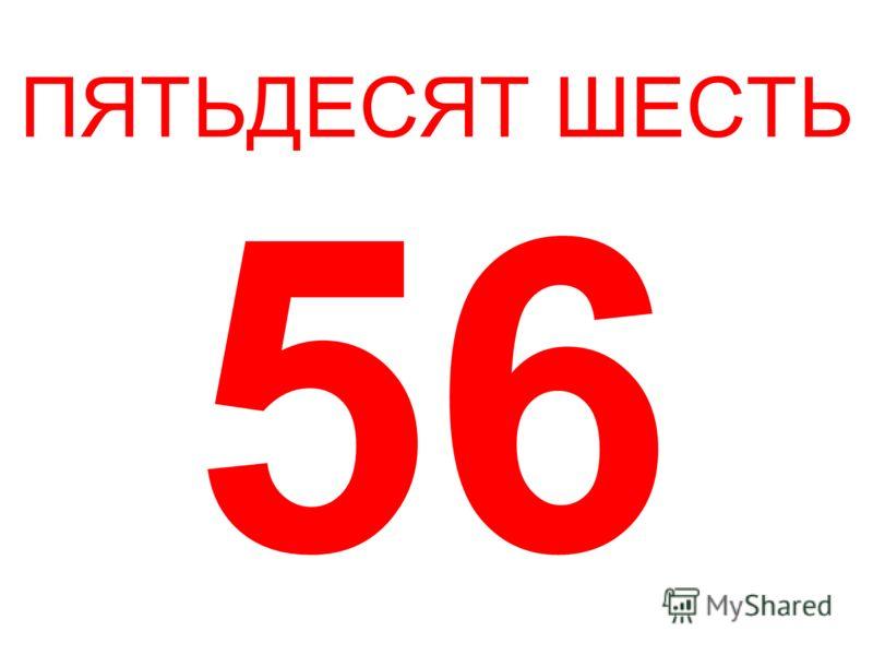 ПЯТЬДЕСЯТ ШЕСТЬ 56