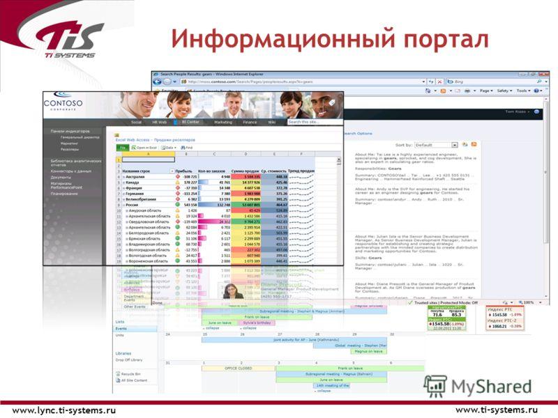Информационный портал www.ti-systems.ru www.lync.ti-systems.ru