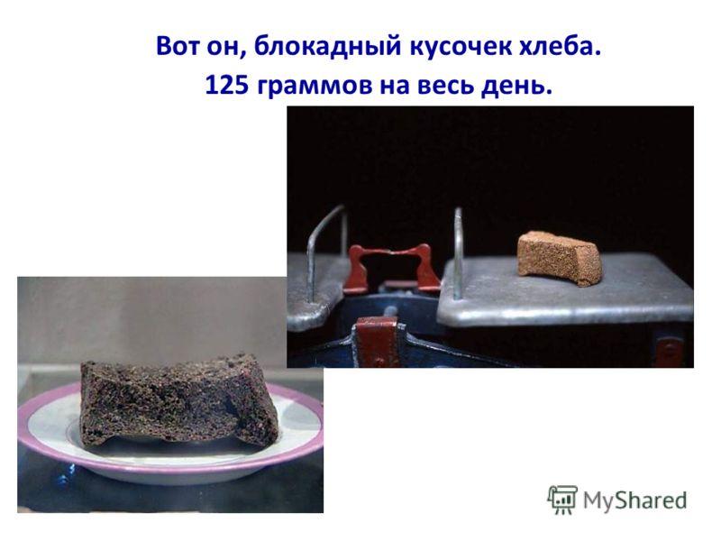 Такие объявления висели во всех булочных Ленинграда. С 20 ноября 1941 года служащие, иждивенцы и дети получали по 125 г хлеба в сутки.