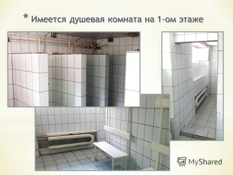 * Имеется душевая комната на 1-ом этаже