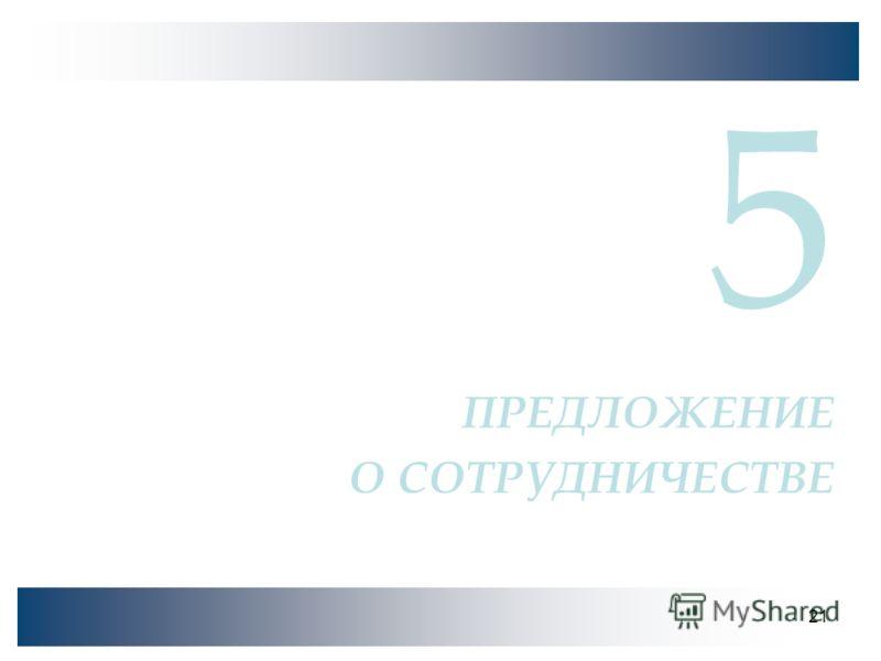 21 5 ПРЕДЛОЖЕНИЕ О СОТРУДНИЧЕСТВЕ