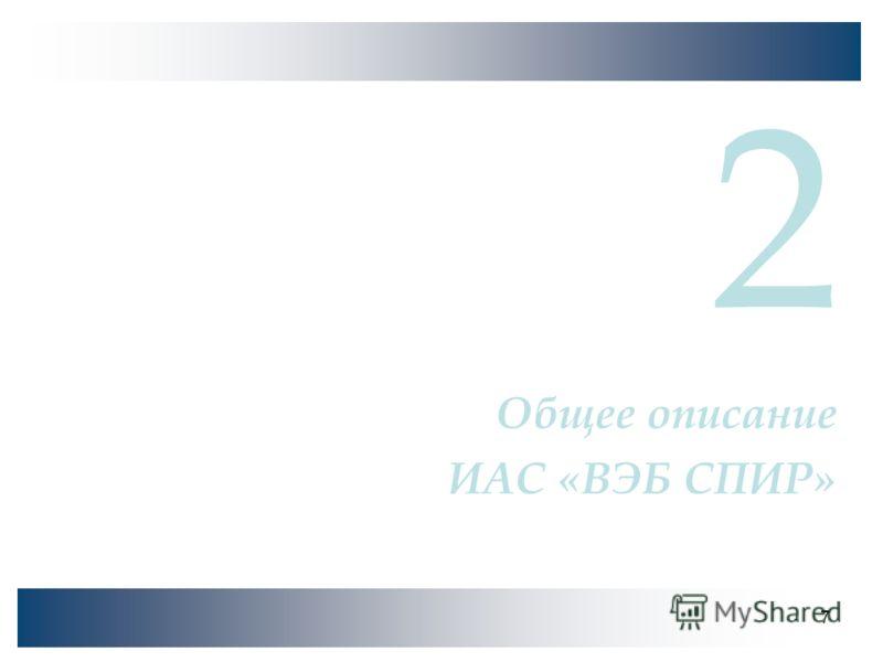 7 2 Общее описание ИАС «ВЭБ СПИР»