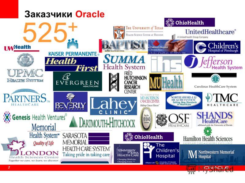 7 + + 525 Заказчики Oracle
