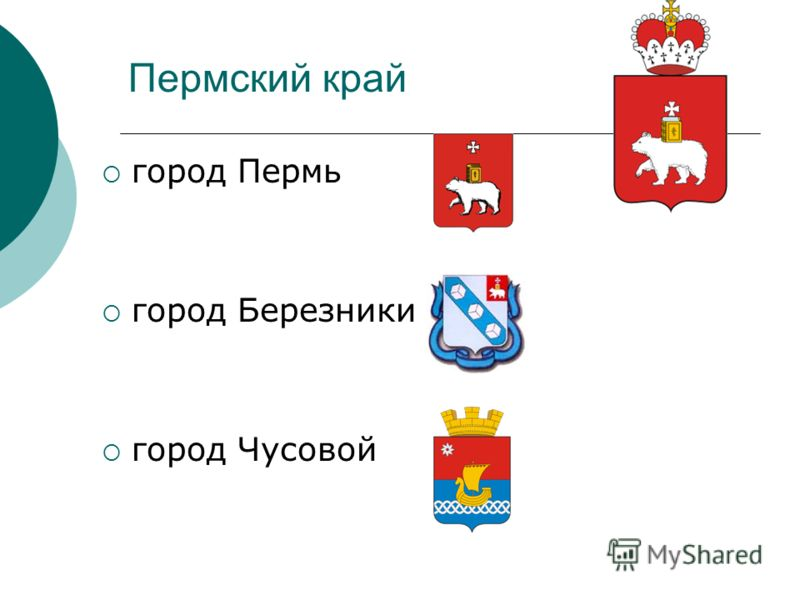 Пермский край город Пермь город Березники город Чусовой