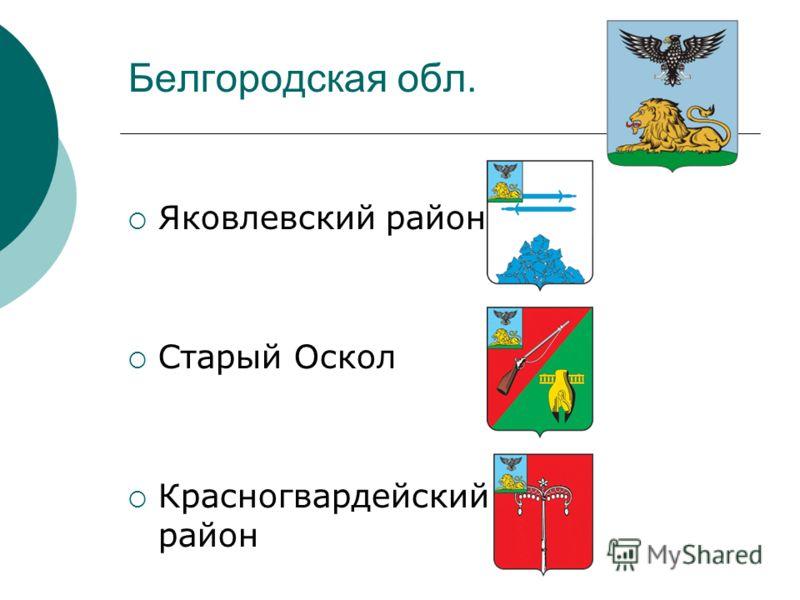 Белгородская обл. Яковлевский район Старый Оскол Красногвардейский район